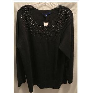Size 2X Apt. 9 Sweater Black NWT